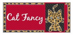 Fancy Cat embroidery design