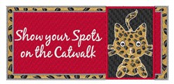Show Your Spots embroidery design