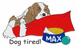 Dog Tired embroidery design