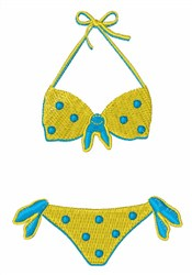 Polka Dot Bikini embroidery design