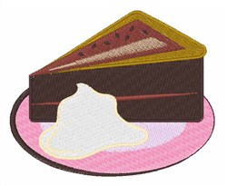 Chocolate Cake Slice embroidery design