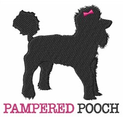 Pampered Pooch embroidery design