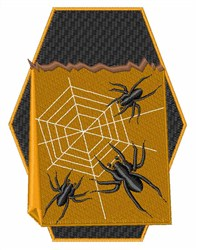 Casket Spiders embroidery design
