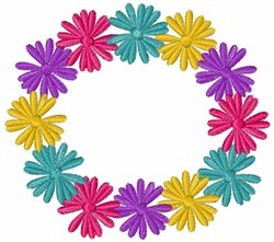 Daisy Wreath embroidery design