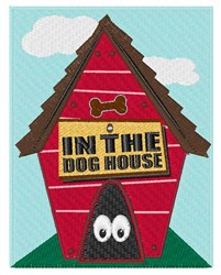 In the Dog House embroidery design