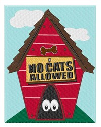No Cats Allowed embroidery design
