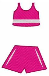 Pink Workout Outfit embroidery design