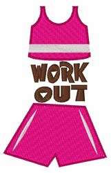 Work Out embroidery design