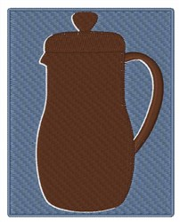 French Press Silhouette embroidery design