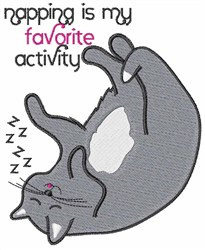 My Favorite Activity embroidery design