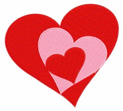 Red Hearts embroidery design