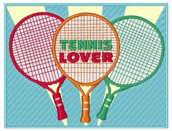 Tennis Lover embroidery design