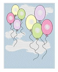 Birthday Balloons embroidery design