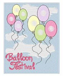 Balloon Festival embroidery design