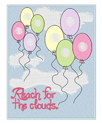 Cloud Reach embroidery design