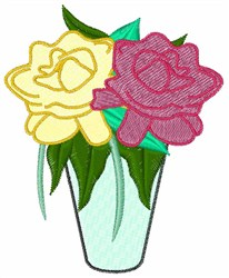 Gardenias embroidery design