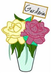 Gardenia embroidery design