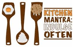 Kitchen Mantra embroidery design