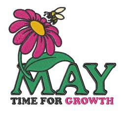 May Growth embroidery design