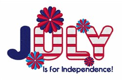 July Independence embroidery design