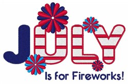 July Fireworks embroidery design