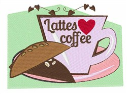 Lattes Coffee embroidery design