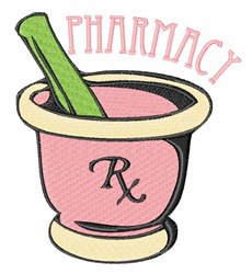 Pharmacy Rx embroidery design