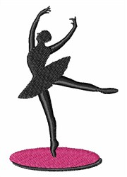 On Toe Ballerina embroidery design