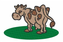 Brown Cow embroidery design