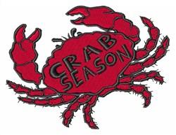 Crab Season embroidery design