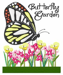 Butterfly Garden embroidery design