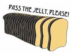 Pass the Jelly embroidery design