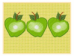 Green Apples embroidery design