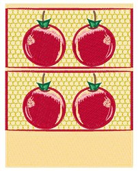 Abstract Apples embroidery design