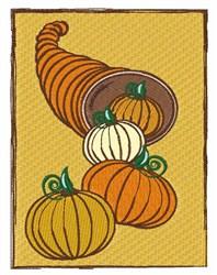 Pumpkin Horn embroidery design