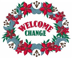 Welcome Change embroidery design