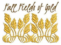 Fall Fields of Gold embroidery design