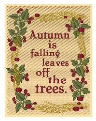 Autumn is Falling Leaves embroidery design