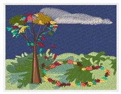 Fall Scene embroidery design