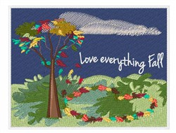 Love Everything Fall embroidery design