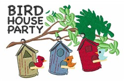Bird House Party embroidery design