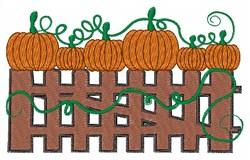 Pumpkin Fence embroidery design