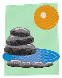 Rocks & Water embroidery design