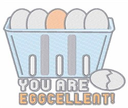 You Are Eggcellent embroidery design