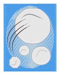 Framed Snowballs embroidery design