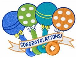 Congratulations! embroidery design