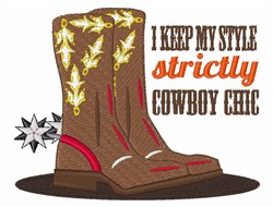 Cowboy Chic embroidery design