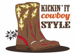 Kickin it Cowboy Style embroidery design