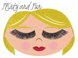 Flirty and Fun embroidery design