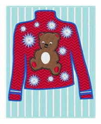 Teddy Bear Sweater embroidery design